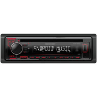 KDC120UR, Kenwood, MP3-Tuner red USB + Aux-IN
